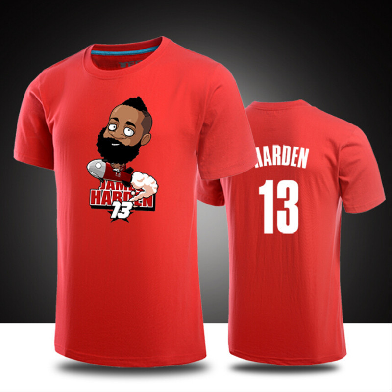 newest 7d0e2 937fd US $12.98 |New Mens/Womens Cartoon James Harden 13# Casual shirts Basket  ball tshirts Genuine Shirt hip hop t shirt tees tops free shipping-in ...