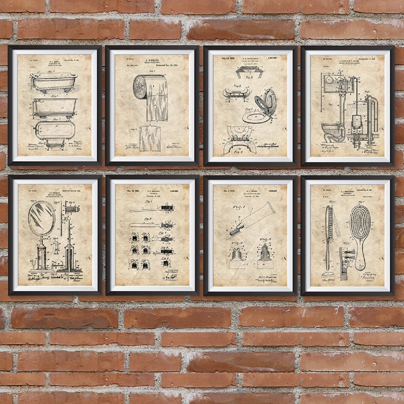 Bathroom Patents Prints
