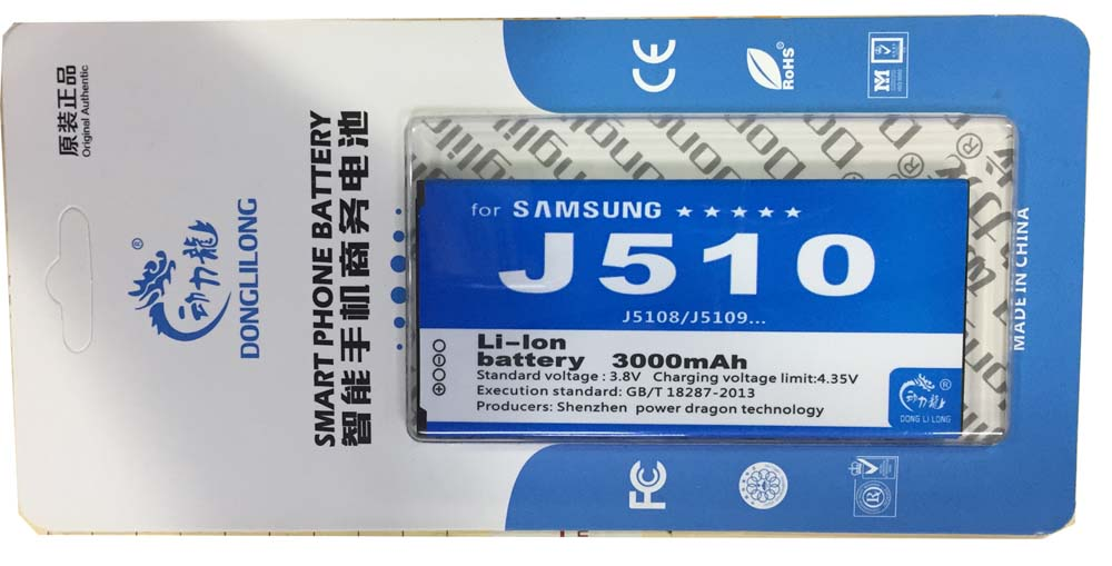 EB-BJ510CBC Phone <font><b>Battery</b></font> for <font><b>Samsung</b></font> Galaxy J5 2016 Edition <font><b>J510</b></font> j510fn <font><b>battery</b></font> j5109 j5108 Donglilong J5(2016) 3000mah image