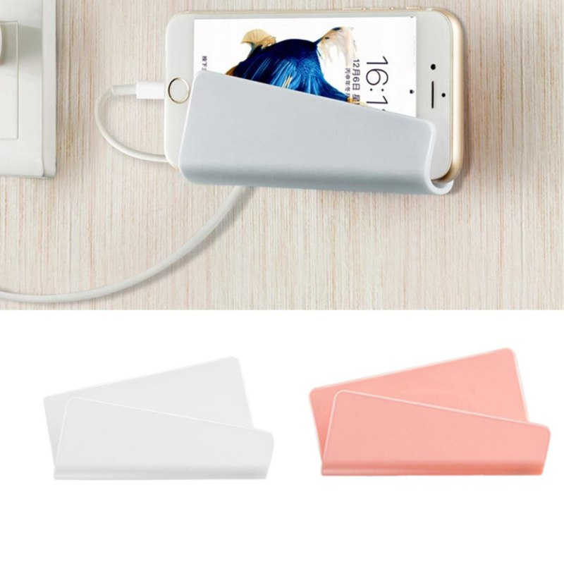 Mobile Phone Ipad No Trace Charging Bracket Paste Creative Wall-Mounted Universal Type Charging Holder 2018