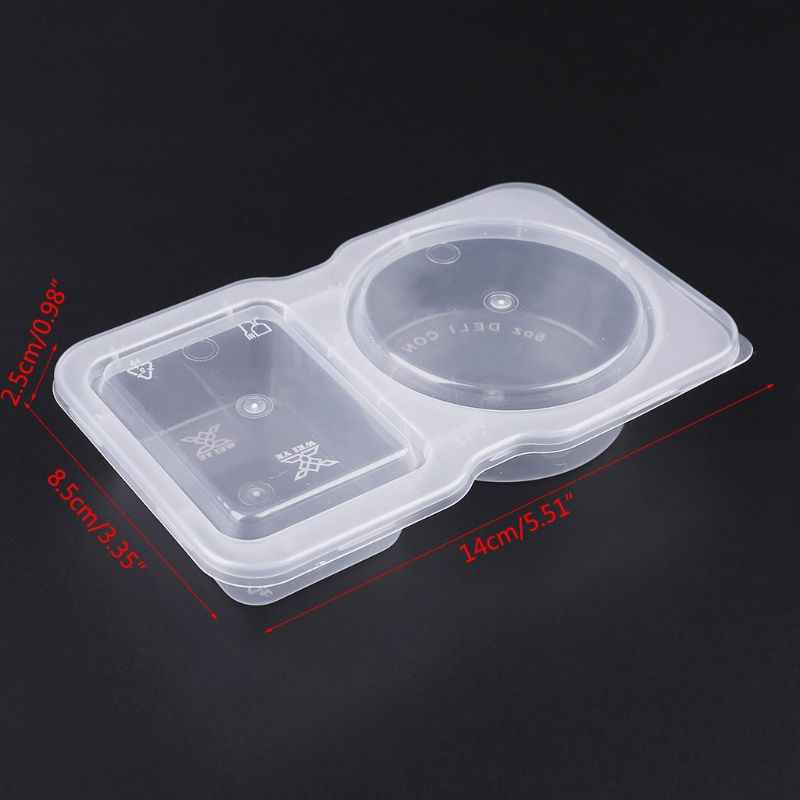 140ml Clear Plastic Sauce Pot Chutney Cups Food Container Slime Foam Mud Storage Box Case With Lid