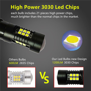 Image 5 - 2Pcs 1156 BA15S P21W Led BAU15S PY21W BAY15D Led Lamp 1157 P21/5W R5W 21Pcs 3030SMD auto Lamp Lampen Auto Led Light 12V   24V