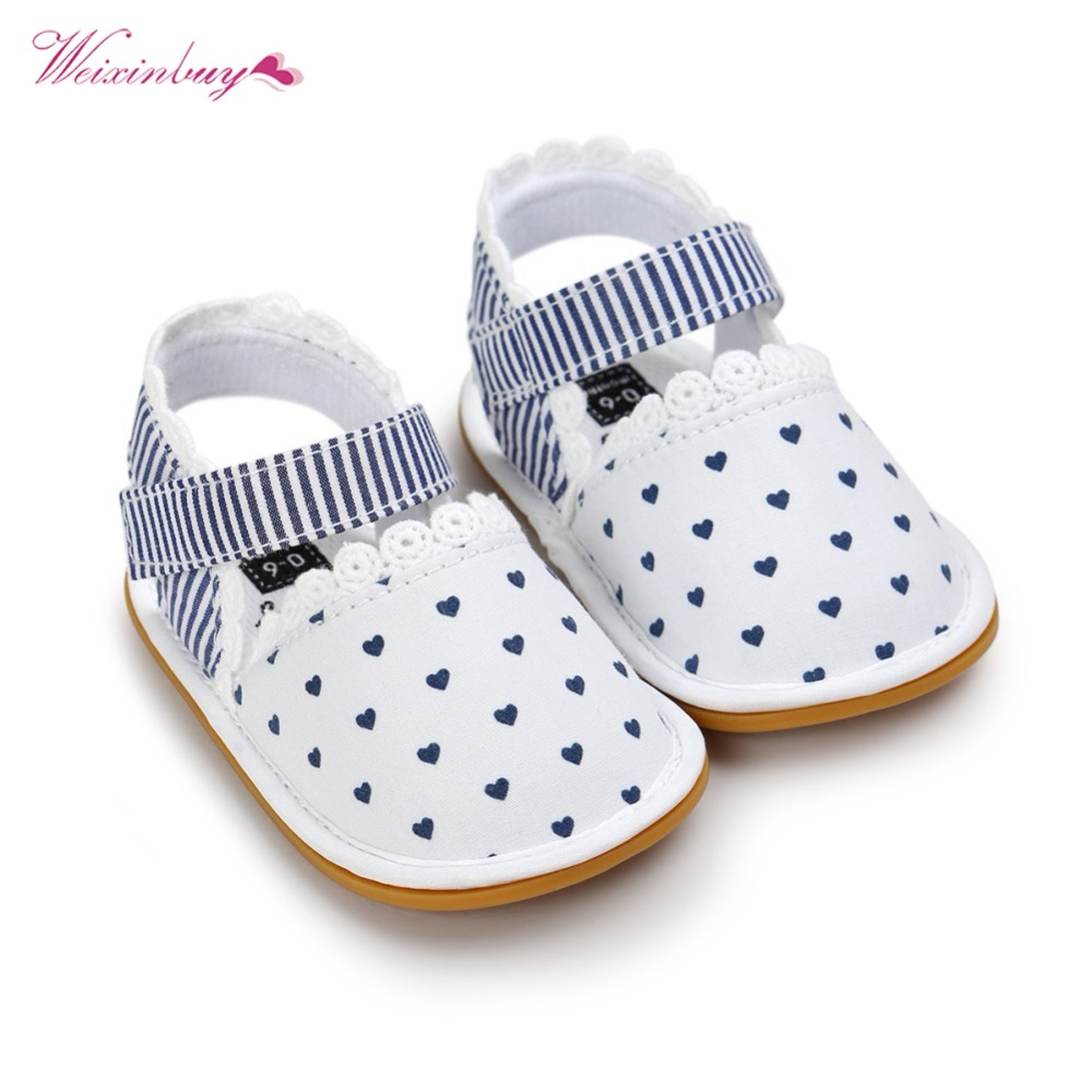 WEIXINBUY 2018 Newborn Baby Shoes Fashion Newborn Girl Baby Retro Printed First Walker Toddlers Kids Soft Bottom Cotton Shoes