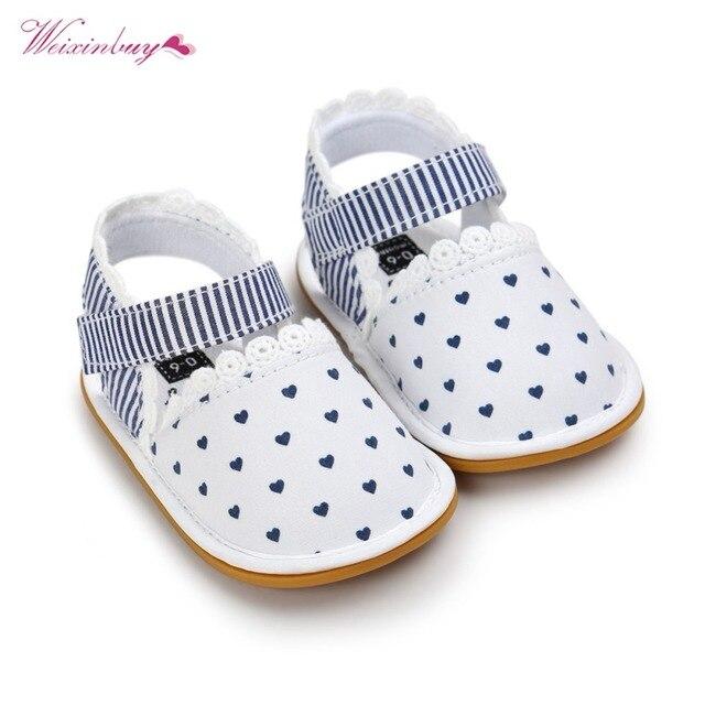 WEIXINBUY 2018 נעלי תינוק בן יומו ראשונה הליכון פעוטות תינוקת שזה עתה נולד אופנה רטרו מודפס תחתון רך ילדי נעלי כותנה