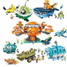 Octonauts строительный блок октопод Gup подводная лодка октябрь-Pod с GUP-C GUP-E GUP-D GUP-K GUP-I кирпич набор для Детский подарок