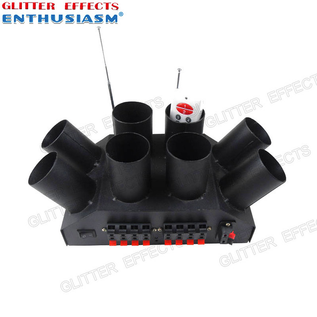ELT08R remote control 8 channel sculpt cold fountain console for wedding system machine