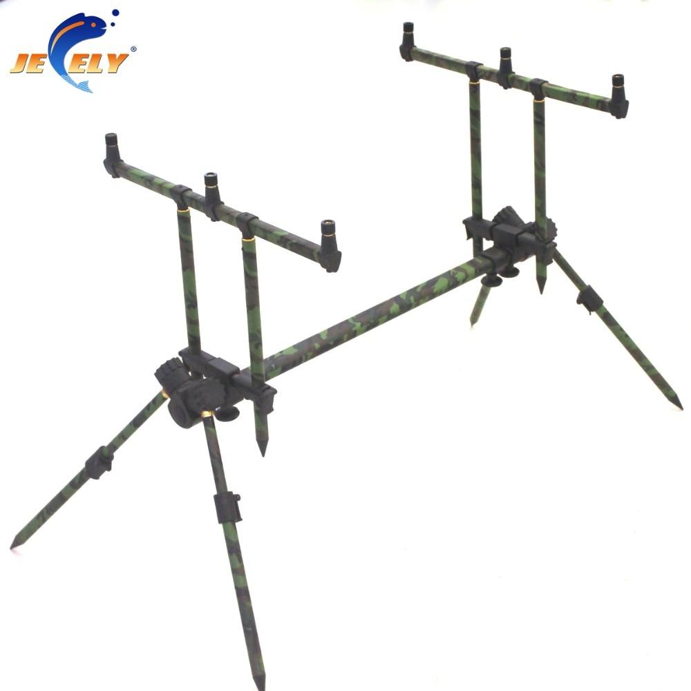 Adjustable Alumimum Carp Fishing Rod Pod Fishing Rod Holder Army Green Color