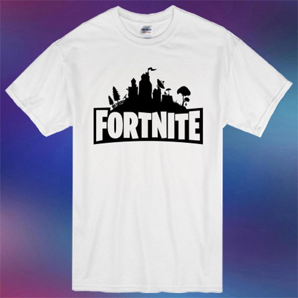 Fortnite Famous Online FBattleroyal Game Logo Mens White T-Shirt Size S-3XL