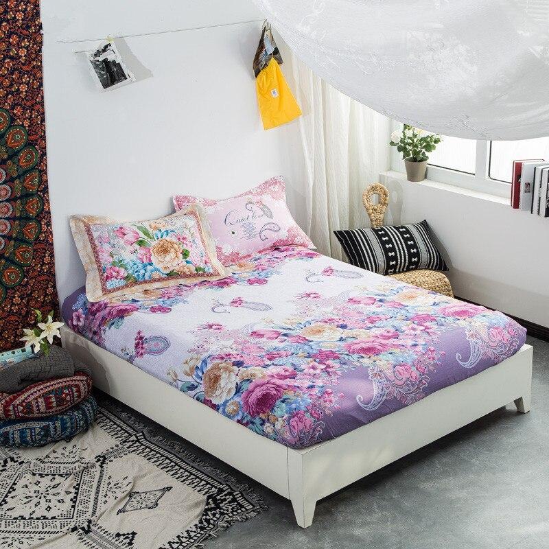 ②Textil de hogar cama hoja + 2 almohada 100% algodón sábana ...