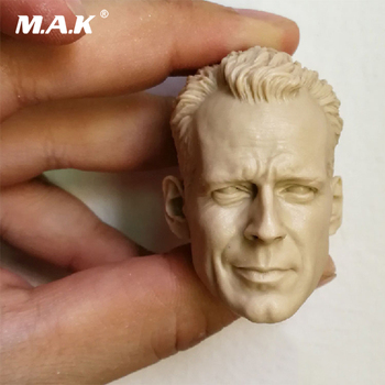 1/6 Repintado Molde Bruce Willis Chefe Sculpt Cabeça McClane para 12 ''Muscular Corpo Acessório
