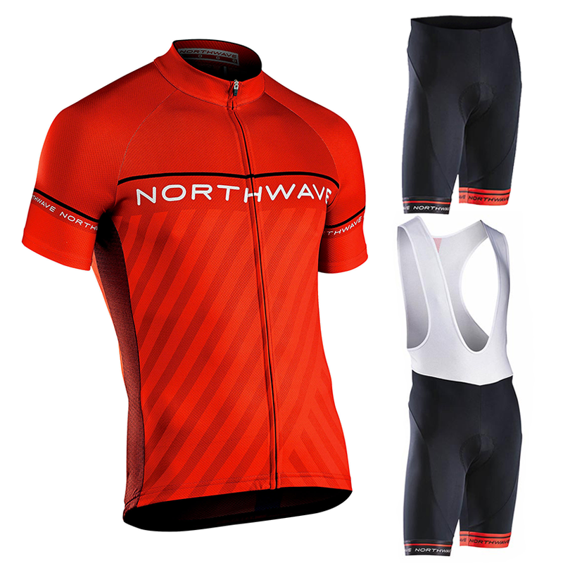 <font><b>Northwave</b></font> <font><b>Nw</b></font> Summer Cycling Set Breathable Jersey MTB Bicycle Cycling Clothing Mountain Bike Clothing Suit Clothes Cycling image