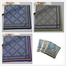 Handkerchief.-Craft Cotton Men 42cm--42 Absorbent Jacquard Gift Boutique Soft Men's Cm.