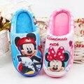2017 marca de Moda de invierno niños niñas sandalias de los niños de dibujos animados caliente casa pantofole 16N1103 interiores zapatillas kids calzado