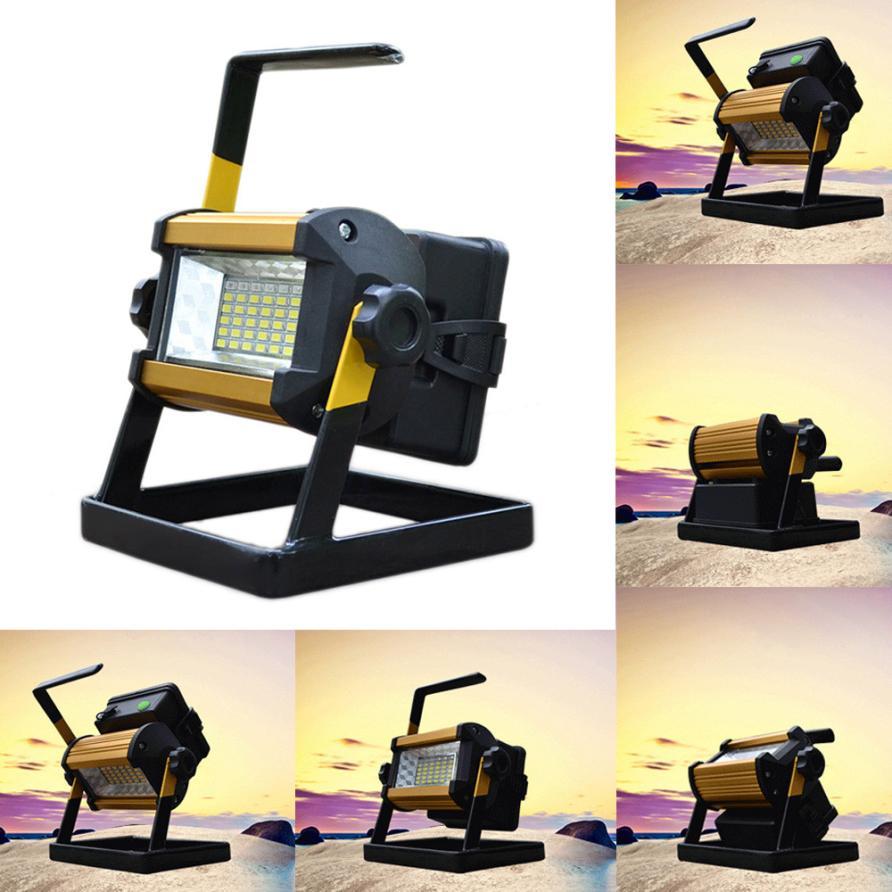 MUQGEW Extérieur Étanche Outils De Pêche Lampe 50 W 36 LED Portable Rechargeable Lumière Crue Spot Camping Zoomables lampe de Poche