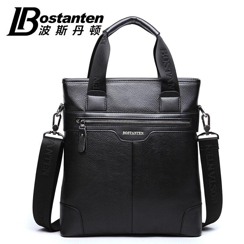 BOSTANTEN 100 GENUINE LEATHER Real Cowhide Shoulder Men s Bag Business Messenger Handbag briefcase Tote Laptop
