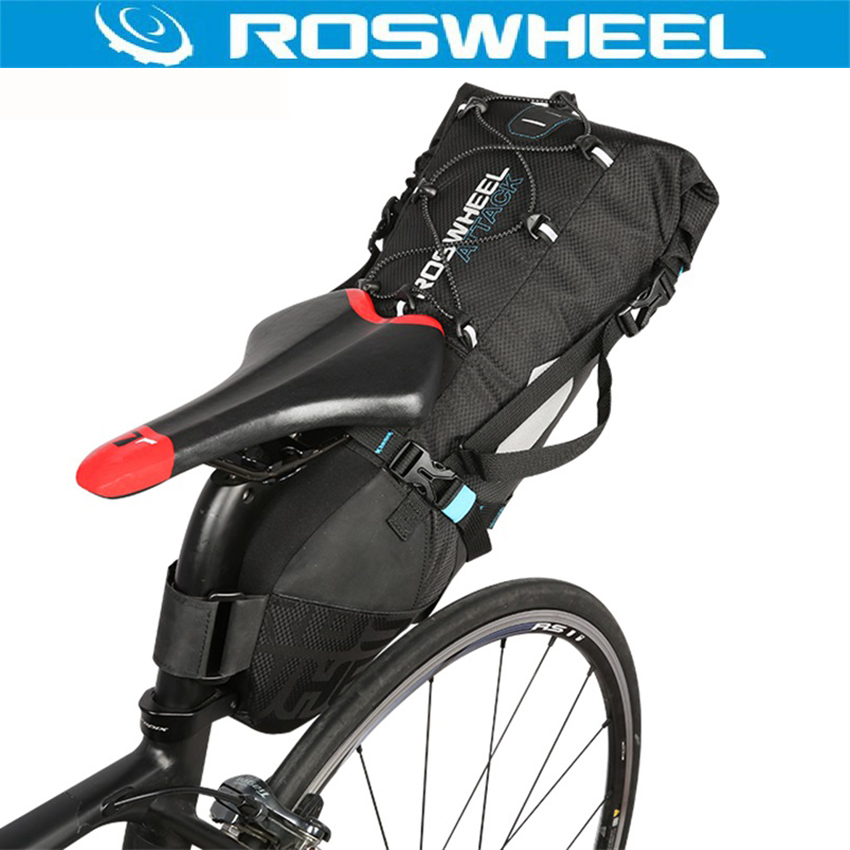 ROSWHEEL ATTACK Series Bike Bag 10L Bike Back Seat Rear Bag 100 Waterproof Bicycle Accessories Saddle