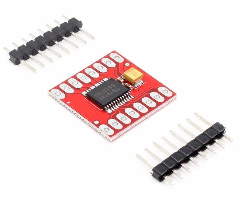 1 個デュアルモータドライバ 1A TB6612FNG Arduino のマイクロコントローラよりも L298N