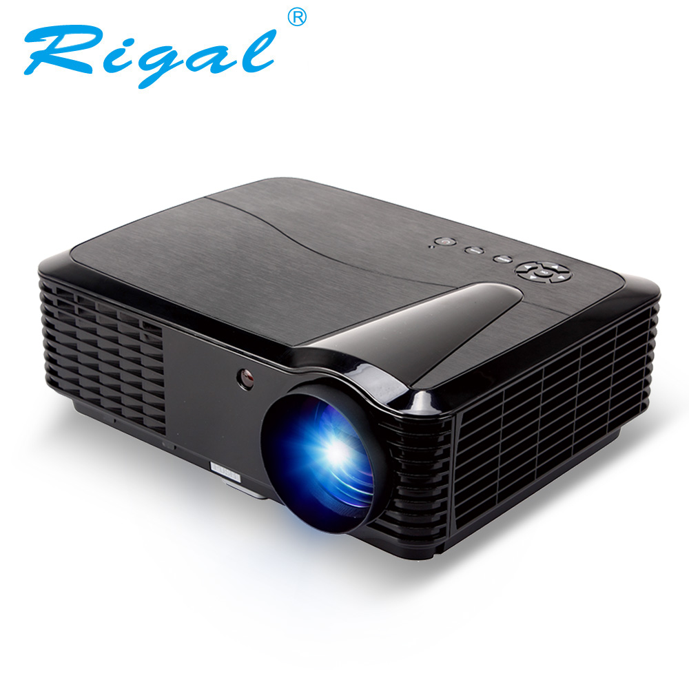 Rigal Projector RD806B LED Smart Projector Android WIFI 2800Lumens HD Beamer 720P Home Theater LED LCD 3D Video TV Projector wzatco 5500lumen android smart wifi 1080p full hd led lcd 3d video dvbt tv projector portable multimedia home cinema beamer