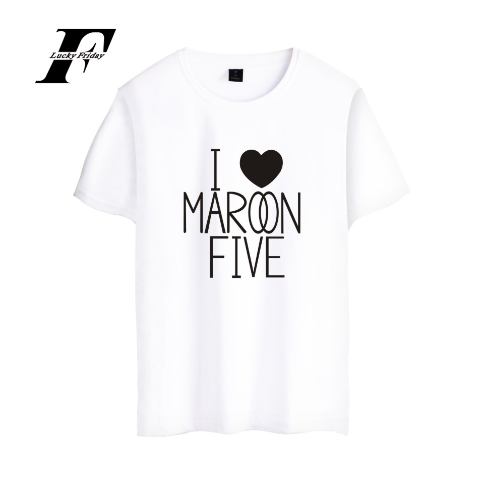 Maroon 5 Rock Band Shirt Summer Short Sleeve T-shirt Fashion Frint For Women Casual Girls XXS-4XL Soft Cotton