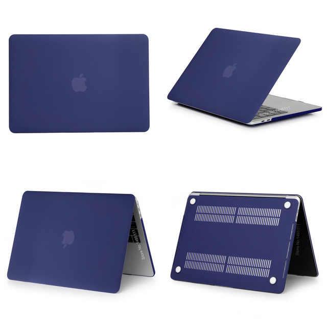 2019 nowa luksusowa nowy matowy dla Apple MacBook Air Pro 11 12 13 15 16 cal dla 13.3 mac book Pro z touch bar osłona klawiatury