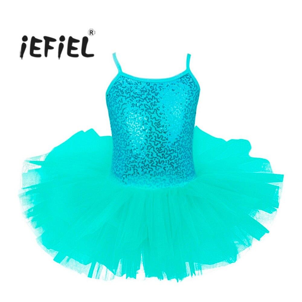1e6396526 iEFiEL Girls Princess Tutu Ballet Dance Leotard Dress Kids Child ...