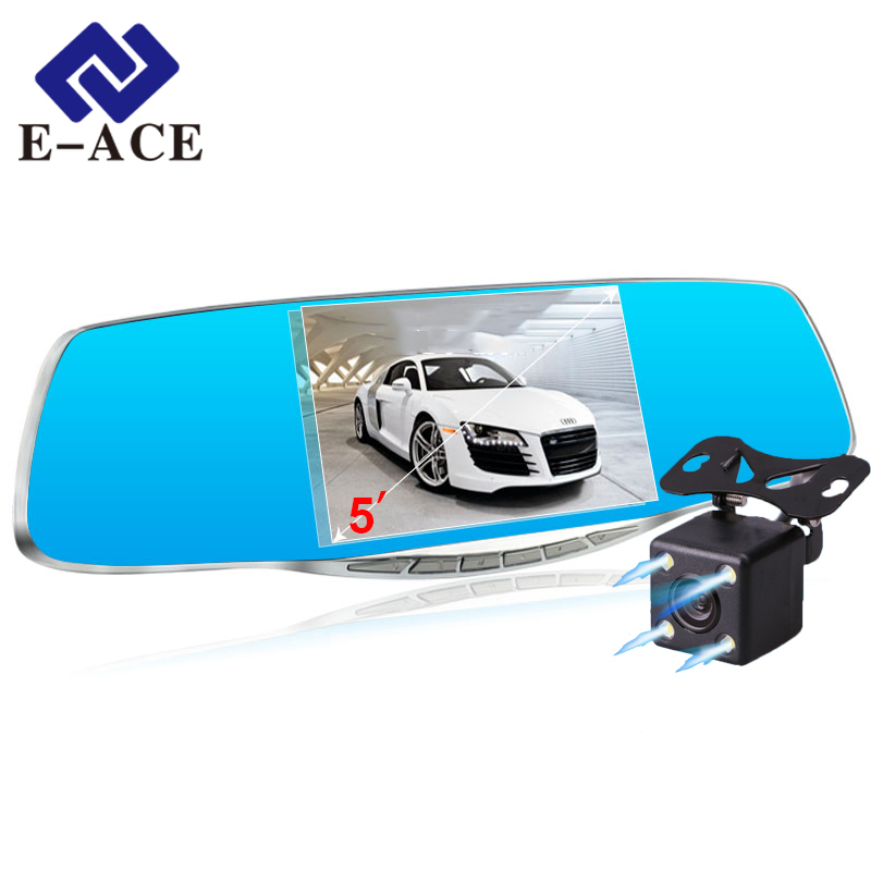 Video Registratory Full HD 1080P Car Dvr Camera Avtoregistrator Rearview Mirror Digital Video Recorder Dual Lens