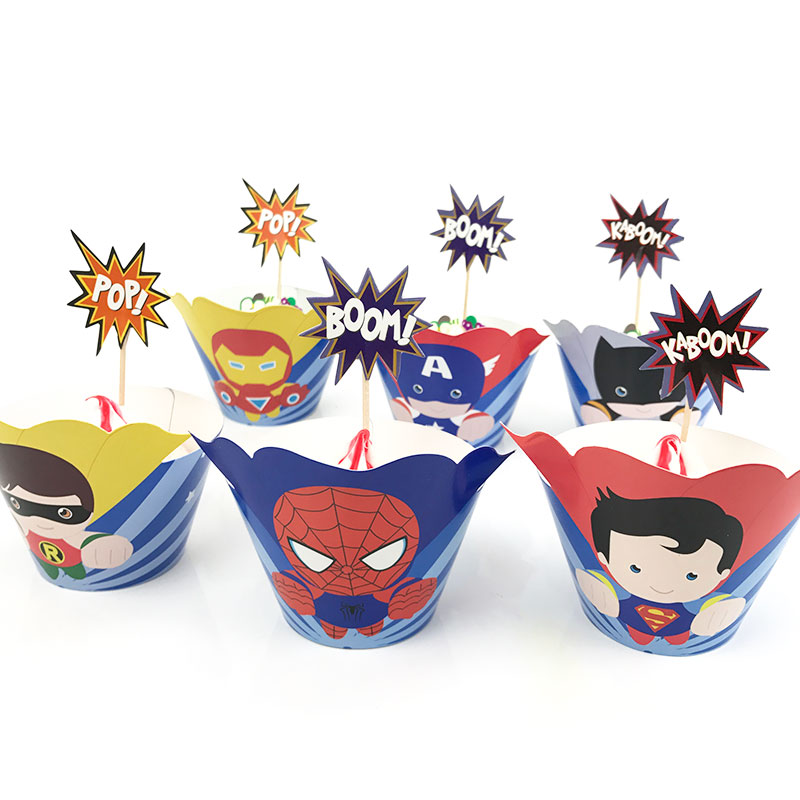 Super Hero Candy Bar Wrappers Set of 12 Child or Adult Birthday
