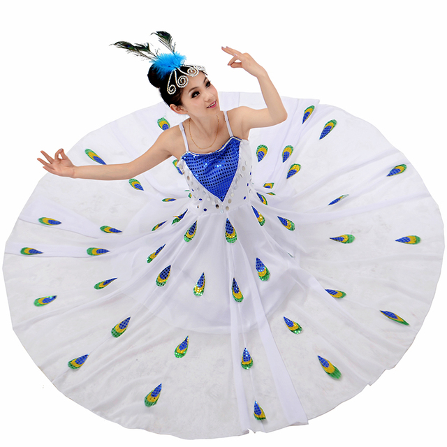 7b3773d0ebb3 Chinese Folk Dance Costumes Women Minority Dance Dress Adult Lady National  Dai Dance Costume for Stage