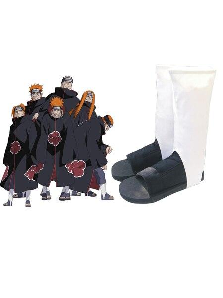 Gratis frakt Naruto Akatsuki Organization Ninja Shoes Anime Cosplay Tillbehör