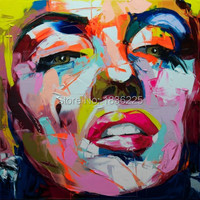 Nielly Francoise Pop Pop Art Oil Painting Marilyn Monroe Face Modern Canvas Painting Hand Painted Wall