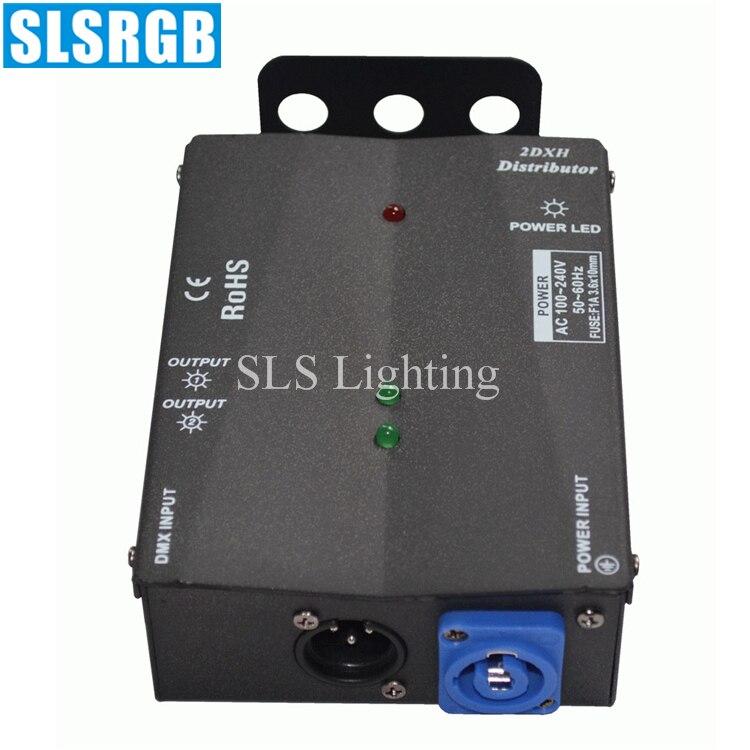 Işıklar ve Aydınlatma'ten Sahne Aydınlatması Efekti'de SLS 1337 2DXH DISTRIBÜTÖRÜ Kontrol DMX 2 Yollu Dağıtıcı Denetleyici Yolları Dmx Sinyal Sürücü Amplifikatörü dmx sinyal amplifikatör