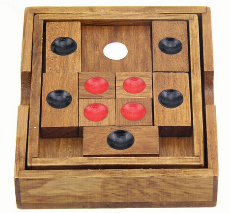 Traditional Wooden Puzzle Game Huarong Dao Sliding Puzzles for Adults Children wood