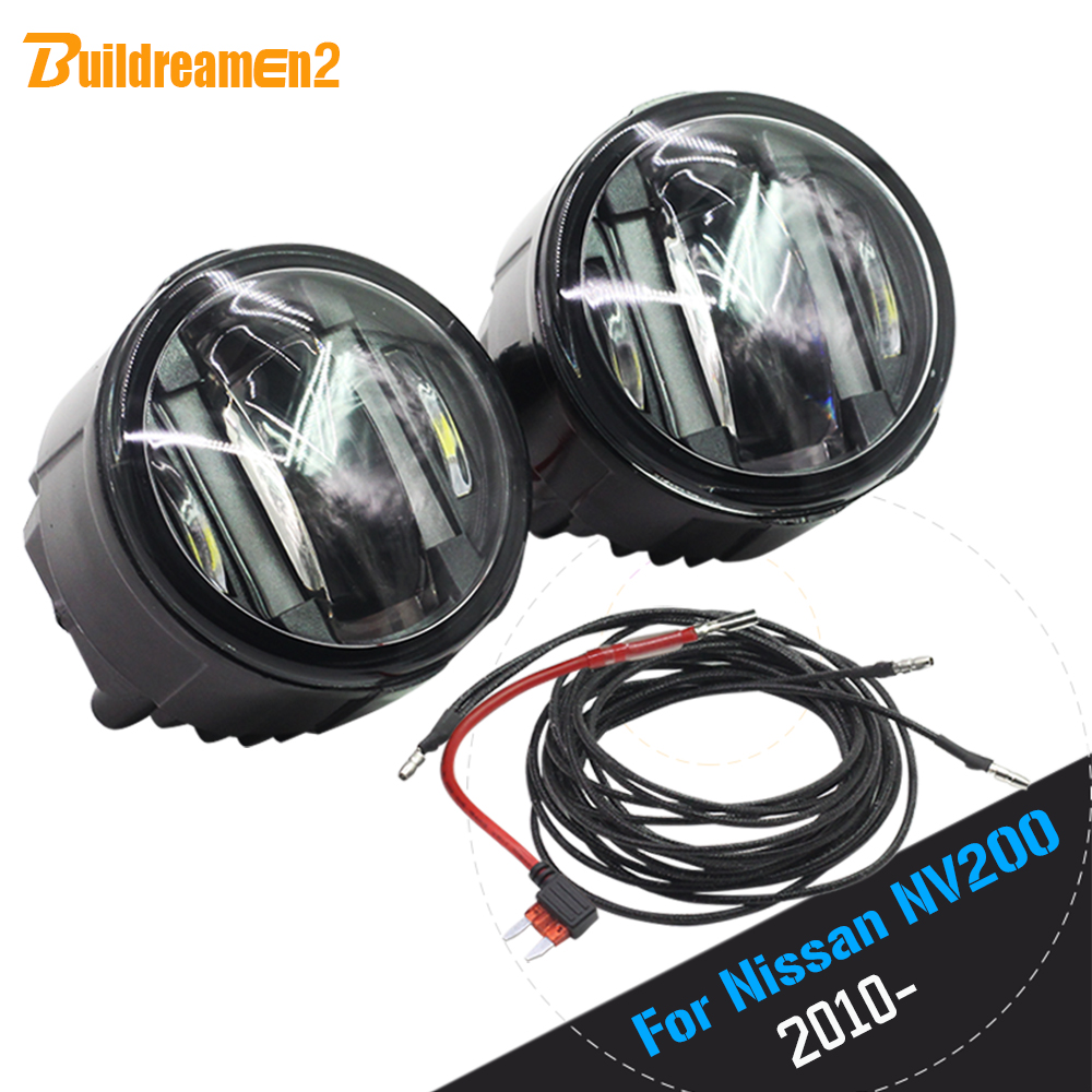 Buildreamen2 For 2010 Up Nissan NV200 M20 M20M Car LED Fog Light Daytime Running Lamp DRL Styling 1 Pair