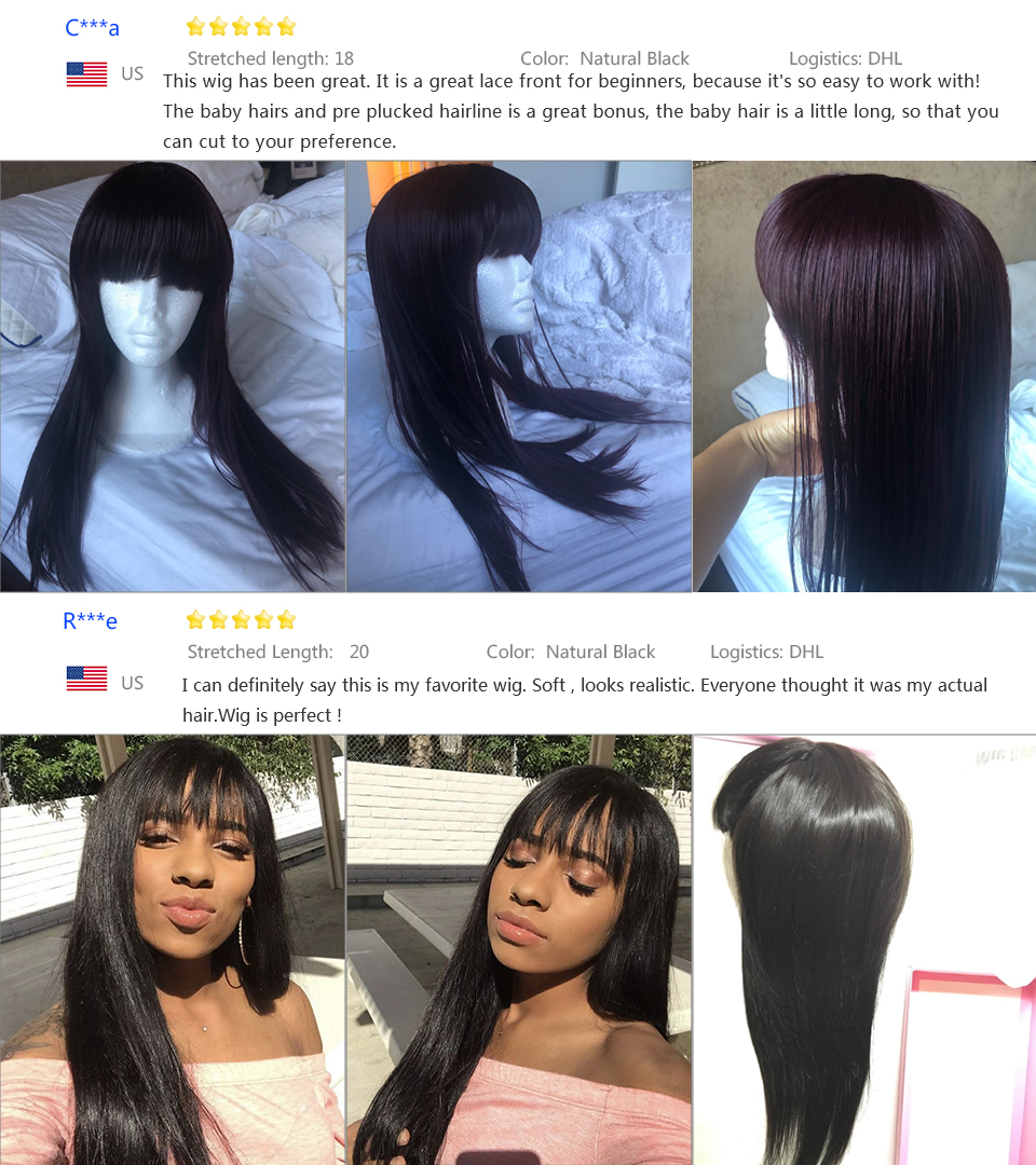 Lace Wigs Dependable Sapphire Fringe Front Human Hair Wigs With Bangs For Black Women Remy Brazilian Human Hair Wigs Pre Plucked Bang Wigs Human Hair Comfortable And Easy To Wear Human Hair Lace Wigs