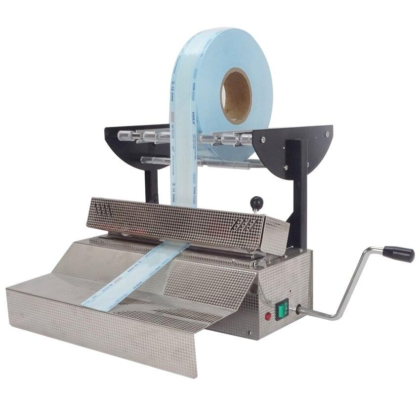 1PC High Qualities and Brand New Dental Handpiece Sealing Machine AC 220V/110V 500W sterile bag Sealer dental packer 2016 dental lab handpiece heat sealing machine sealer best 006