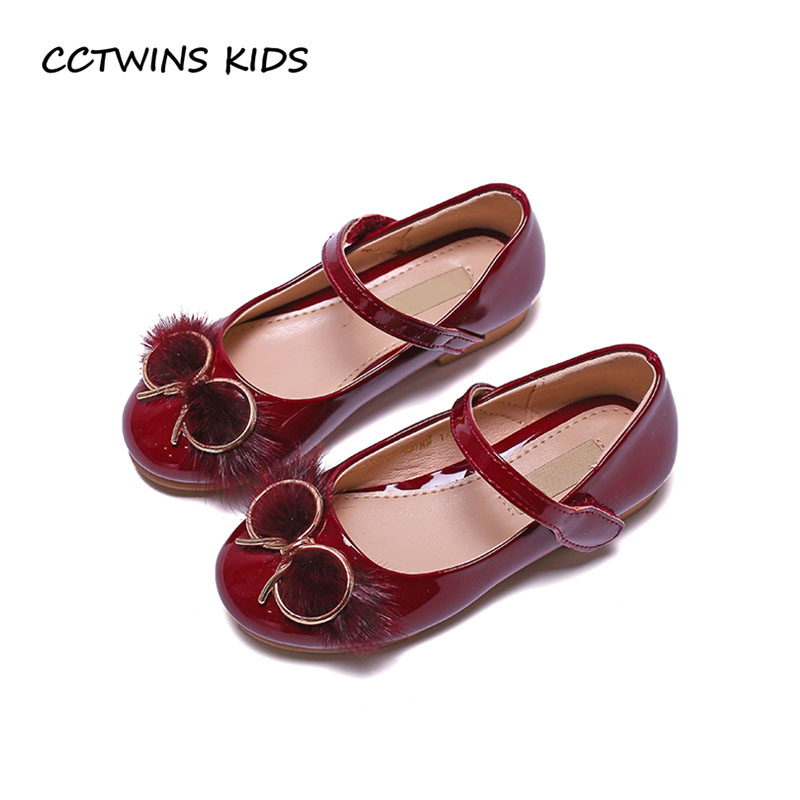 CCTWINS KIDS 2018 Spring Children Fashion Butterfly Party Shoe Baby Girl Brand Princess Mary Jane Toddler Pu Leather Flat G1670