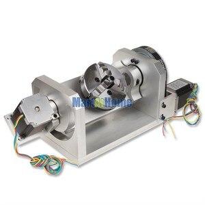 Image 3 - CNC נתב מכונת רוטרי שולחן 4th & 5th סיבובי ציר עם צ אק & 57 2 שלב 250 oz  ב מנוע צעד