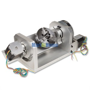 Image 3 - CNC Router Machine Rotary Table 4th & 5th Rotational Axis with Chuck & 57 2 Phase 250 oz in Stepper Motor