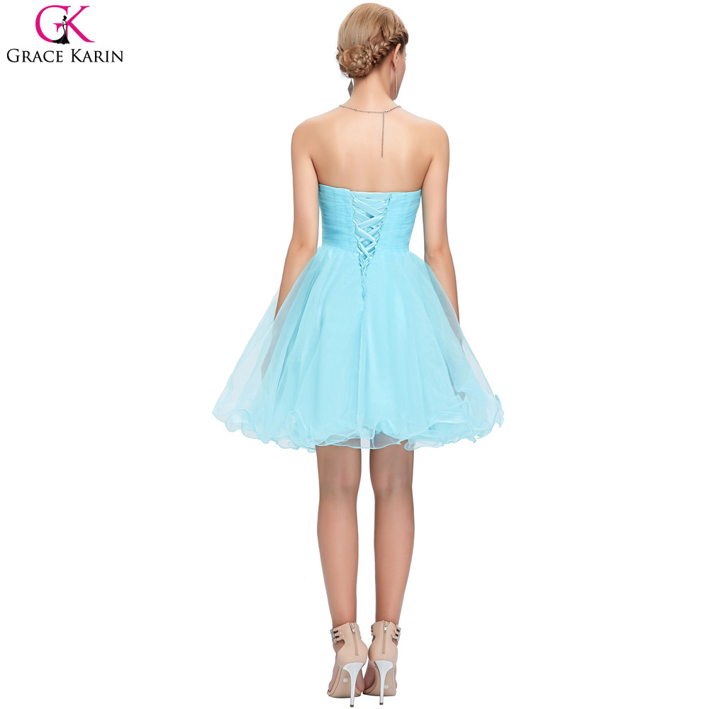 Grace Karin Blue White Short Prom Dress Corset Ball Gown Sexy Red ...