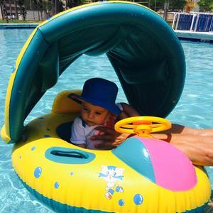 Flotador de natación de verano para bebés y niños, flotador de nado inflable para piscina, juguetes de diversión con agua, anillo de nado de niños, asiento de barco deportivo