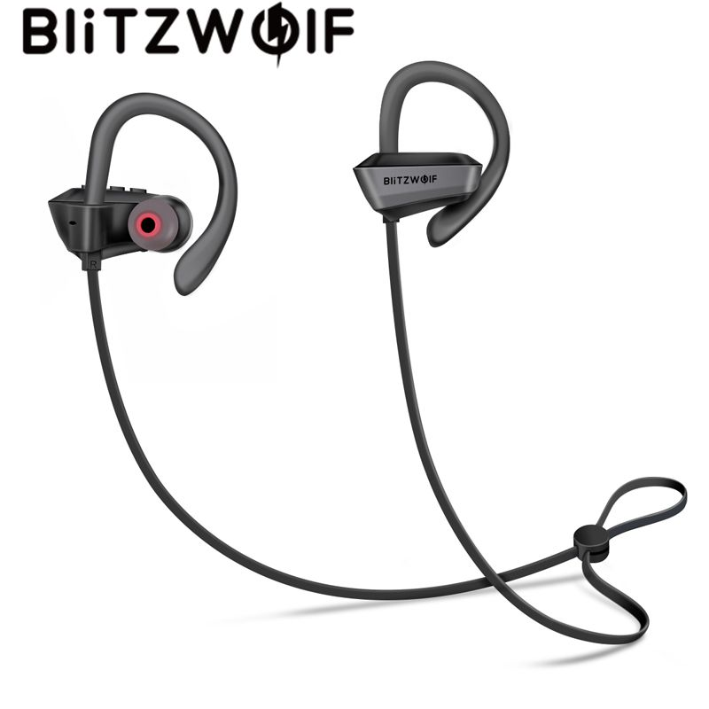 BlitzWolf Sport Earhooks Earphone Wireless Bluetooth V4.1 Headset IPX5 Waterproof Heavy Bass Headphones With Mic For Phone hoco sport bluetooth earphone ipx5 waterproof wireless headphones with microphone stereo surround bass for ios android headset