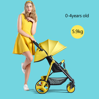 5.9kg Lightweight Baby Stroller Can Sit Reclining Simple Mini Folding Children Summer Portable Baby Carriage Travel Pram 0 4Y