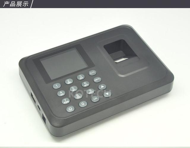 A5 Biométrico de impressões digitais Time Clock Recorder Comparecimento Do Empregado Digital Eletrônico Voz Português Inglês Máquina Leitor de impressões digitais