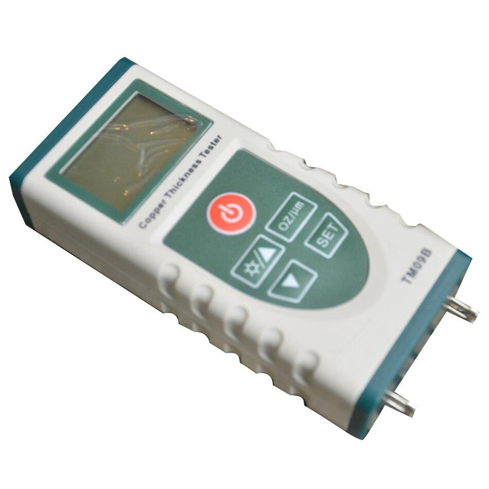 TM09B Haute Précision Numérique Feuille De Cuivre Epaisseur Tester Gauge pour PCB recouvert de Cuivre Compteur LCD Rétro-Éclairage 0-5.0 oz