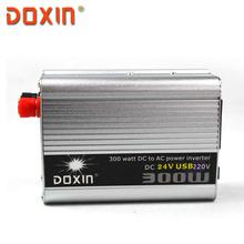 USB 300 Вт DC 24 В в ПЕРЕМЕННОЕ 220 В Силы Автомобиля Invertosr ИНВЕРТОР ПОСТОЯННОГО ТОКА Авто Универсальный С USB Doxin ST-N021