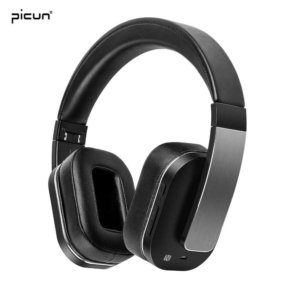 Picun Bluetooth Headphone Wireless Earphone Stereo Bass Headset HIFI Music Earbuds with Mic For iPhone Samsung Headphones цены