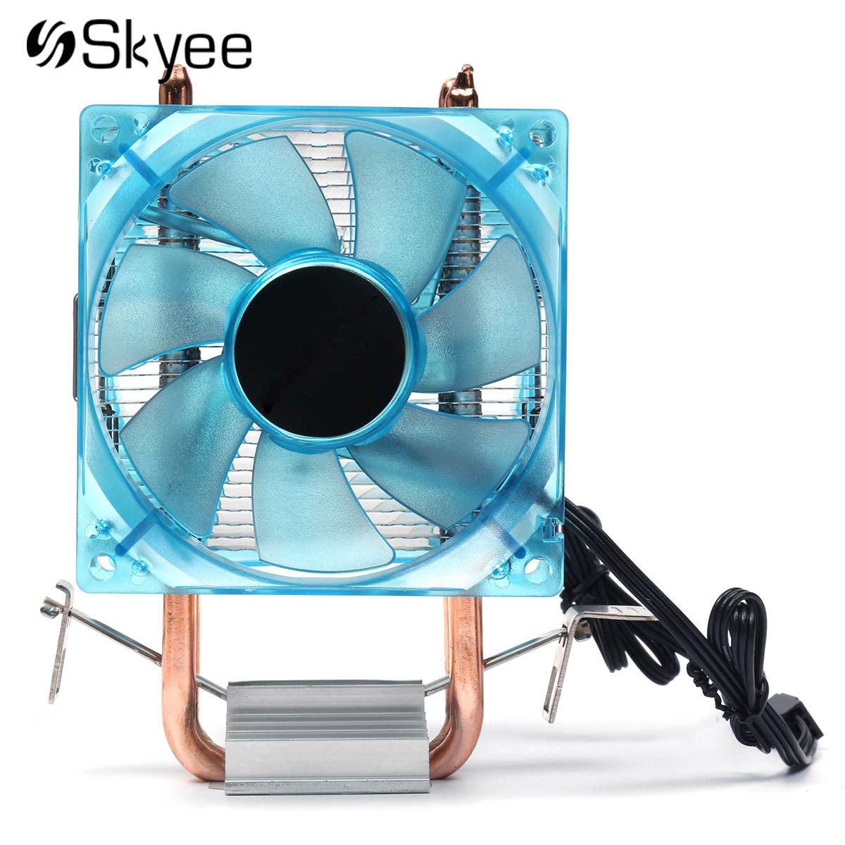 2018 LED CPU Cooling Fan 90mm Dual Copper Pipe Aluminum Heatsink Cooler Cooling Fan for AMD FM1 AM2 + AM3 +Intel 775 1155 1156 new pc cpu cooling fan cooler heatsink for intel lga775 am2 am3 754 939 940 c77 dropship
