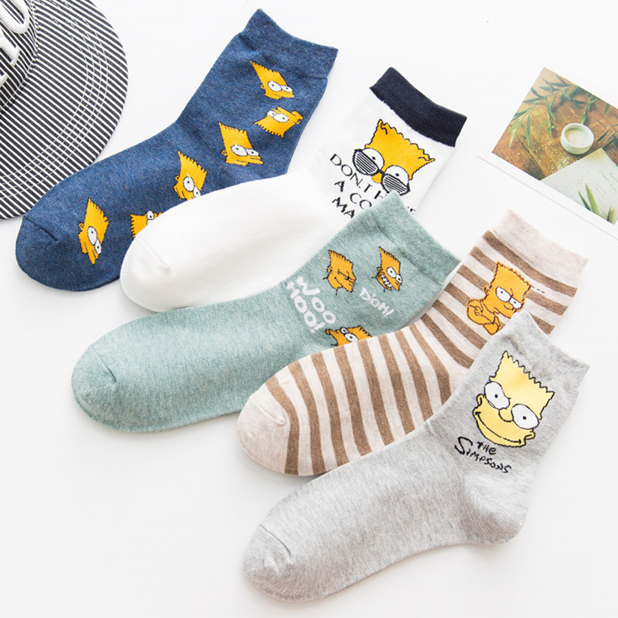 Simpson Women   Socks   Newly Hot Spring Summer Women Cartoon Funny Cotton   Socks   Simpsons Family Novelty Cute   Socks   Animals Funny