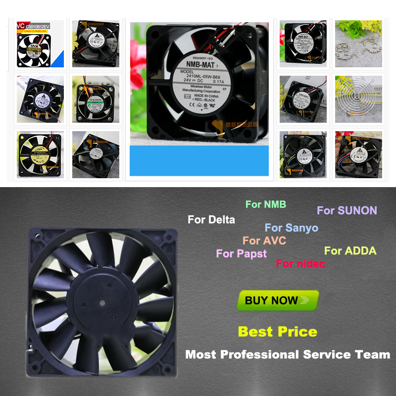 115V 5915PC-12T-B30 Aluminum frame for NMB 35/32W alternating current Cooling fan nmb mat 5915pc 12t b30 a00 dc 115v 35a 2 piece 150x172x38mm server round fan