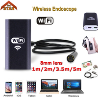 Stardot HD 720P 8mm WIFI Endoscope Camera 5M 3 5M 2M 1M Snake USB Iphone Android